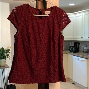 Cranberry lace top